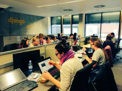 photo published on @DjangoGIrlsBrno Twitter account